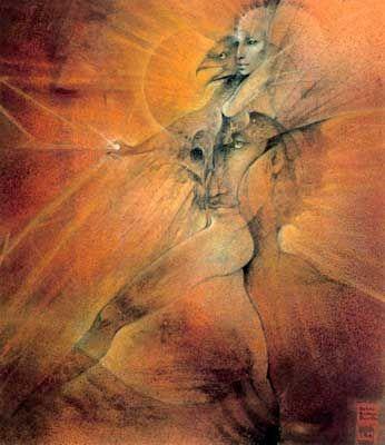 Susan Seddon Boulet - Goddess « Unelanuhi » - 1991 Unelanuhi, déesse amérindienne (cherokee) du soleil