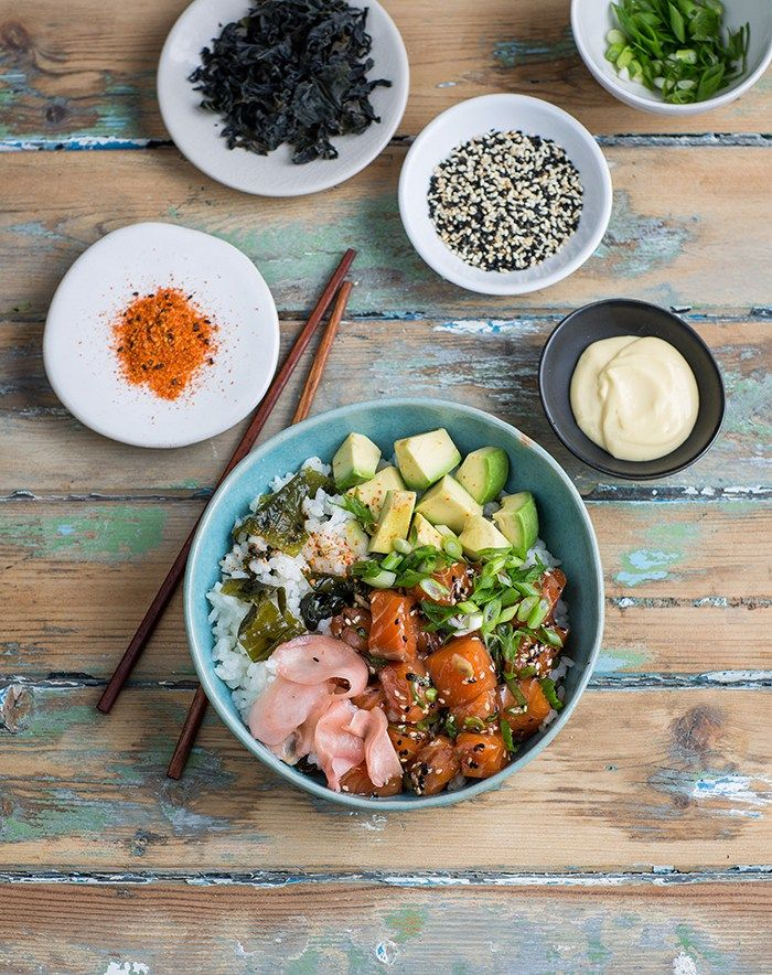 Easy salmon poke that tastes like sushi in a bowl