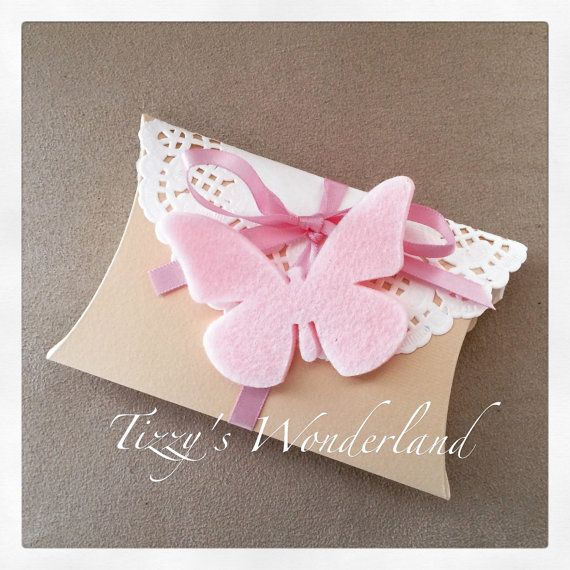 Pillow boxes wedding favors Decorated by TizzysWonderland on Etsy
