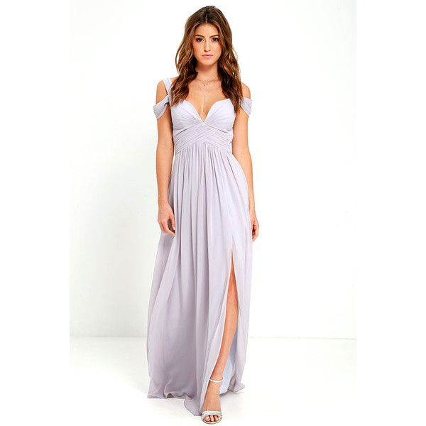 Bariano Ocean of Elegance Grey Maxi Dress (235 AUD) ❤ liked on Polyvore featuring dresses, gowns, grey, evening party dresses, gray evening dress, grey evening dresses, holiday party dresses and maxi dresses
