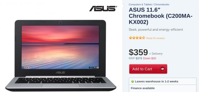 Asus has so far kept their ChromeOS devices limited to the Chromeboxes released earlier this year. But Kogan has begun selling their entry level Chromebook in Australia offering the Chromebook on their website for $359. The specs are fairly basic, but includes the Intel Bay Trail-m Celeron N2830 processor clocked at 2.4GHz. The usual 1366×768 resolution is painted on an 11.6″ display which from reports seems to be quite decent. While a smallish 16GB drive is included, there's the usual…