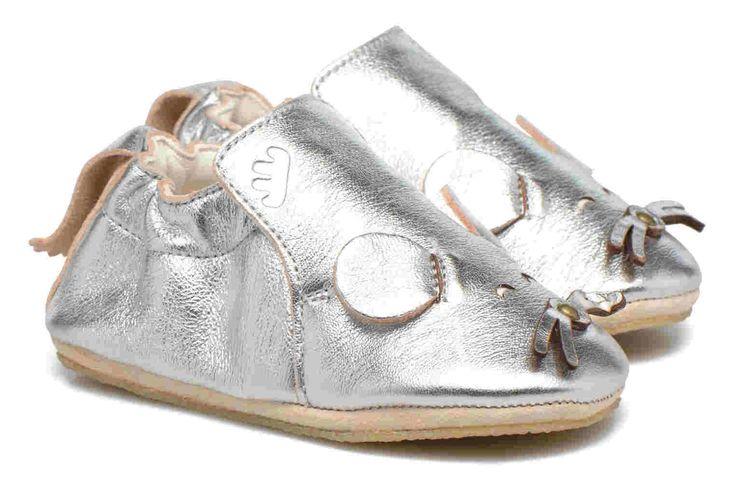 Pantofiori din piele Blublu Souris metal