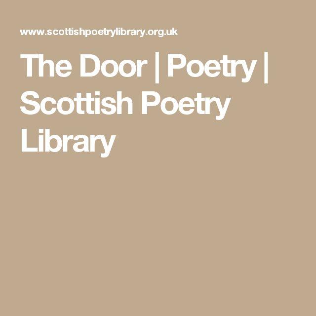 The Door | Poetry | Scottish Poetry Library