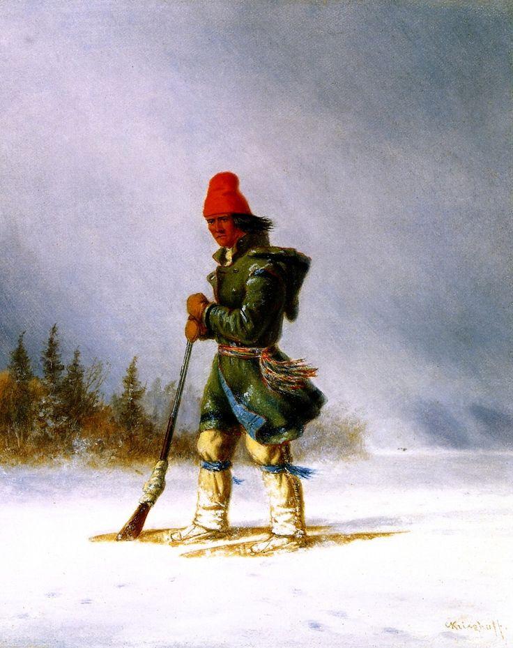 Cacciatore Indiano con Racchette da Neve XI.