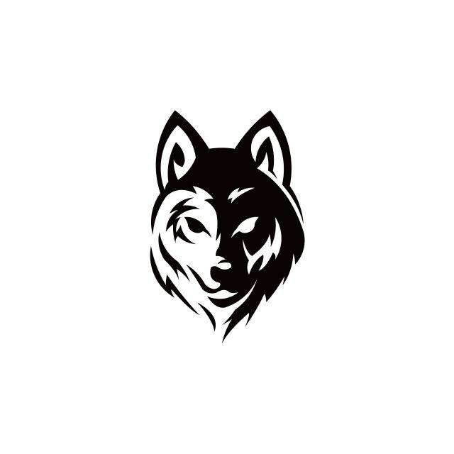 Wolf Bolt Emblem Mascot Head Silhouette Sport Logotype Template