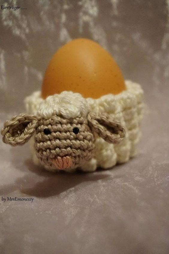 DIY Eierwärmer Schaf häkeln so süß :-)