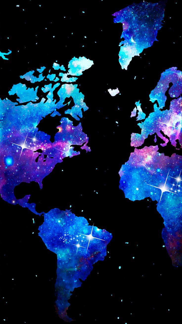 Wallpaper Mapa Mundi Universo By Go 736 X 1308 Papel De