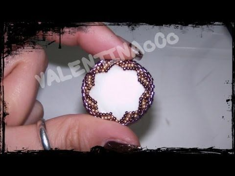 DIY Tutorial: incastonare una goccia 30x22 - Beaded bezel tutorial: How to bezel a Teardrop Cabochon - YouTube