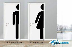 Adesivo sticker da parete toilette bagno  wall vinile wc decor porta wc008   eBay