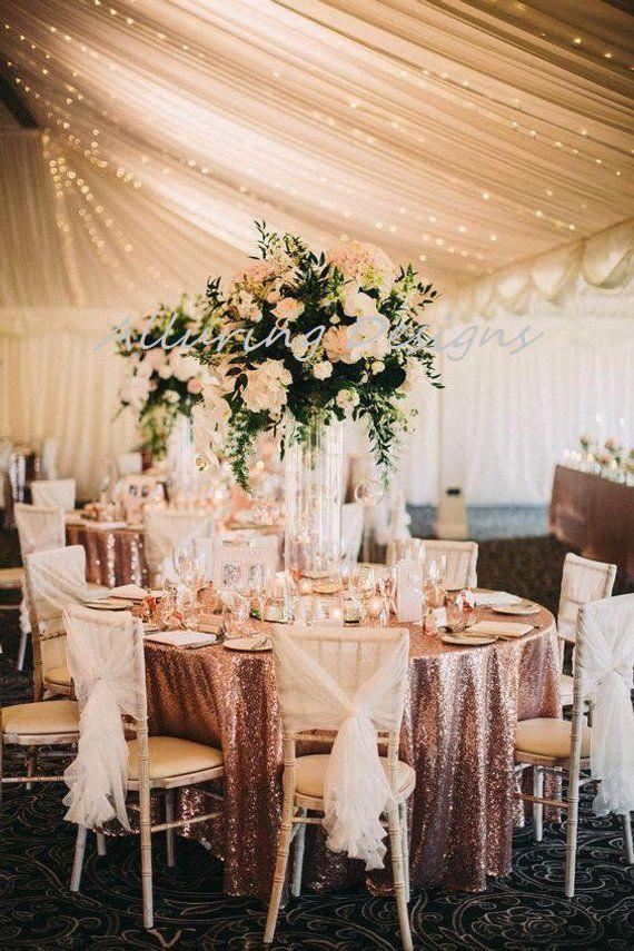 Blush Sequin Linens Tablecloth Runner Overlay Wedding Event Party Anniversary Shower Bridal Receptio #weddingeventplanner