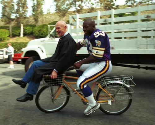 John Randle doubling Judge Mills Lane. Yup.