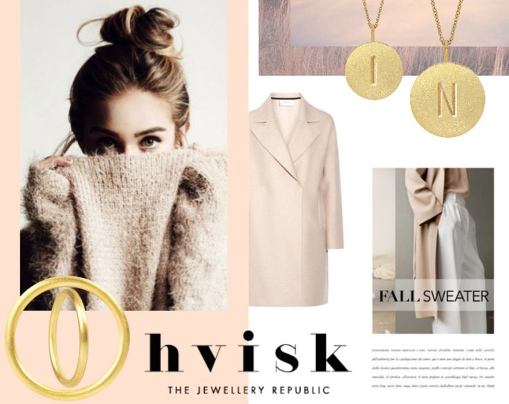 Collage with jewellery in nude colors