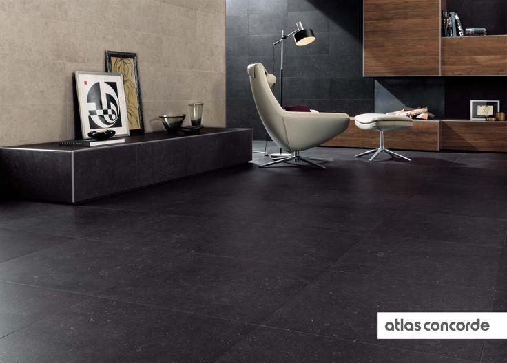#SEASTONE black | #AtlasConcorde | #Tiles | #Ceramic | #PorcelainTiles