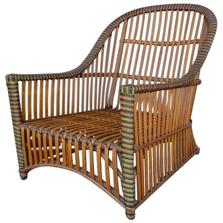 Ficks Reed Wicker Club Chair