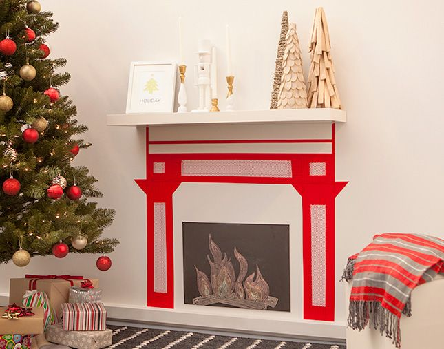 No Fireplace? No Problem! Make One Out of Washi Tape