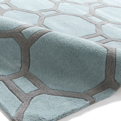 Think Rugs Hong Kong Hand-Tufted Duck Egg Blue Area Rug