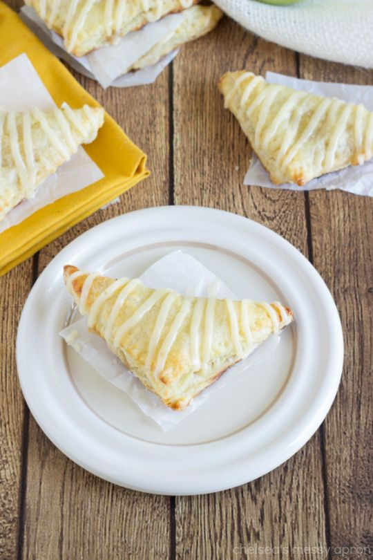 Miniature Apple Turnovers- made with Puff Pastry sheets.