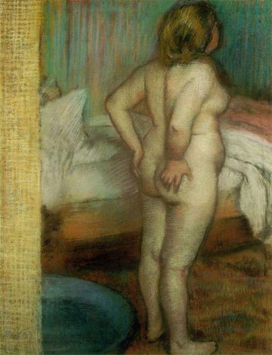 Enjoying Nudity - Edgar Degas, The Baker's Wife, 1885