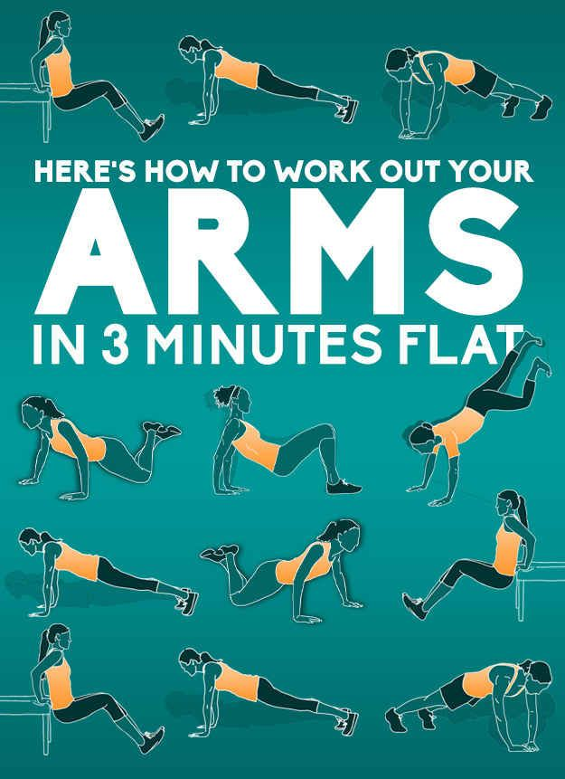 Here's How To Work Out Your Arms In Three Minutes Flat (Beginner, Intermediate, and Advanced Workouts)