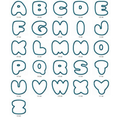 Bubble Letter Cut Outs | Bubble Letter Fonts Lettering ...