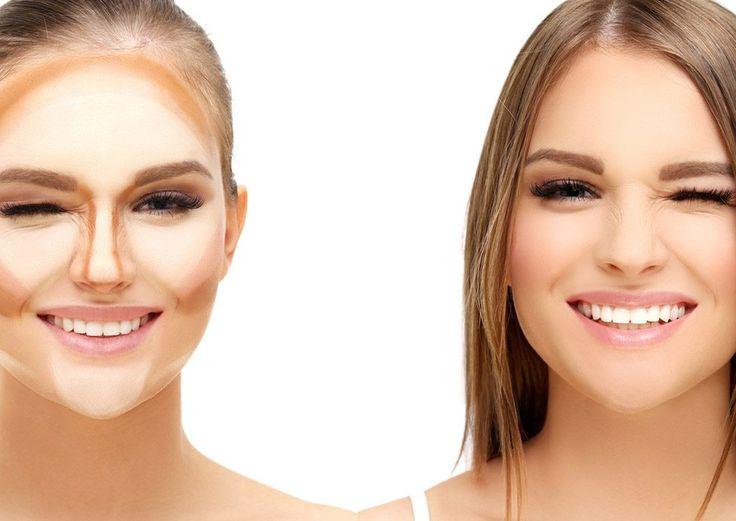 So einfach kannst du dein Gesicht schmaler schminken!