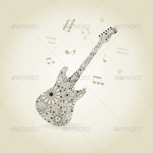 Guitar7  #GraphicRiver         Guitar from plants and a flower. A vector illustration     Created: 28May12 GraphicsFilesIncluded: VectorEPS Layered: No MinimumAdobeCSVersion: CS Tags: art #butterfly #curve #decoration #design #flora #flower #frame #framework #graphic #guitar #illustration #image #leaf #music #nature #ornament #outline #painting #pattern #pendant #plant #retro #silhouette #spa #style #vector