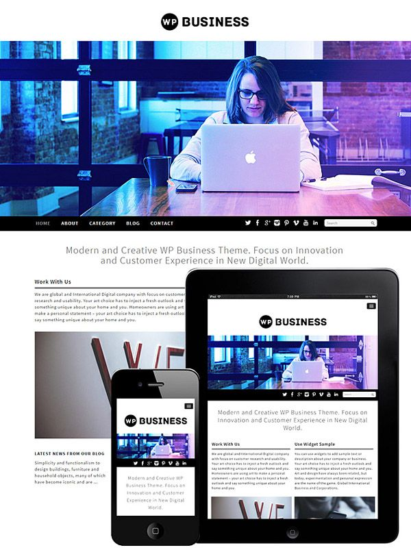WP Business : Minimal Wordpress Theme - Free Download