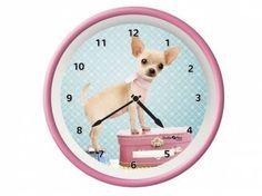 Myrna - Print Arts von Studio PetsWanduhr Hund: Chihuahua Welpe