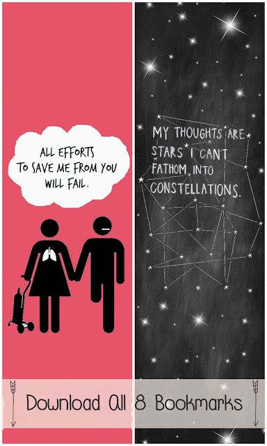 The Fault in Our Stars By John Green - GREAT ideas for  Book Club - free bookmark downloads, menu ideas, etc!