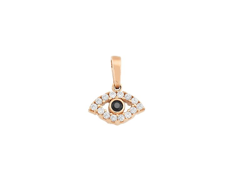 gold fashion charm in 14K ''eye''