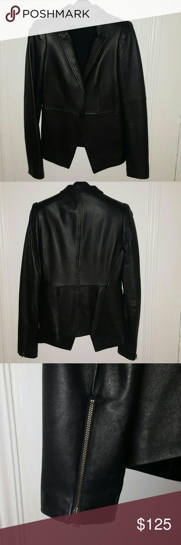 Leather Jacket Beautiful hardly ever worn - LIKE NEW - designer leather jacket Elizabeth and James Jackets & Coats Blazers