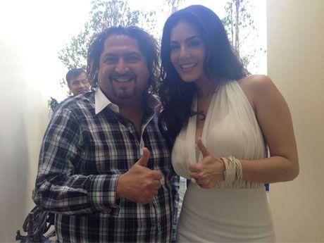 Bollywood Actress Sunny Leone with Dr. Sunil Phol at Dr. Sunil International Dental Clinic in Bangkok, Thailand