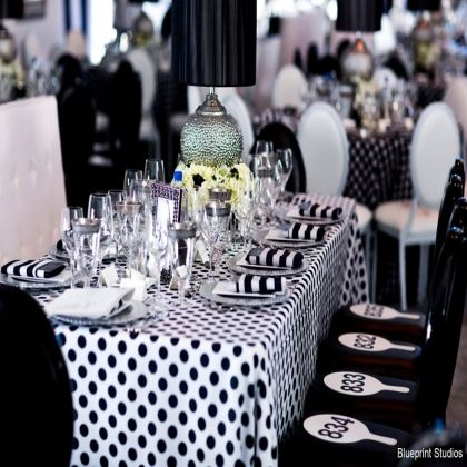 Black and white party decorations birthday teen party for Black and white polka dot decorations