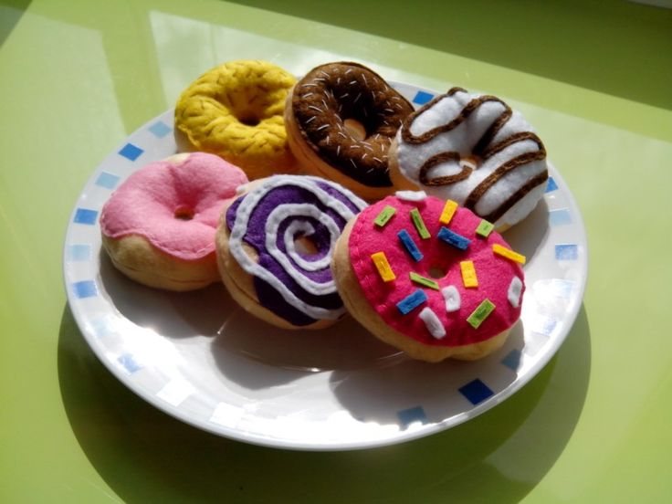 Donuts de fieltro