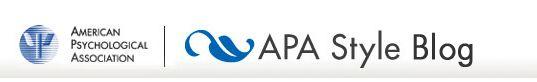 Referencing/Citations: APA Style Blog