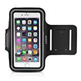AUKEY Sportarmband Hülle Tasche für iPhone 6 oder bis zu 5 Zoll Smartphone Fitness Armband Schweißbeständig  Anti-Rutsch geeignet für Laufen , Wandern , Rad Fahren , Reiten Schwarz