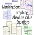 This sort (matching game) has 3 parts and 4 levels Level 1: The graphs and equations are only translations: horizontal, vertical, or both.  This l...