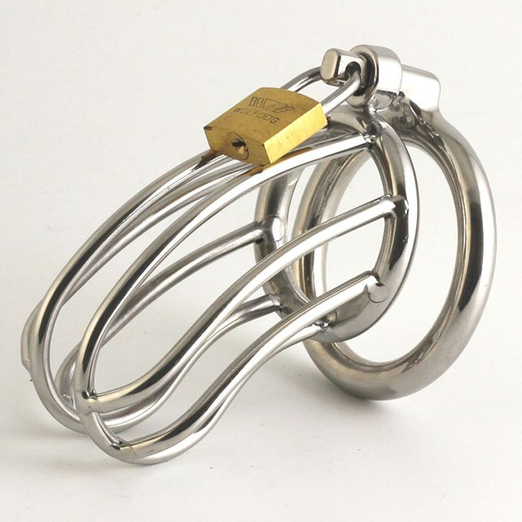 ==> [Free Shipping] Buy Best male chastity belt stainless steel chastity cage bird device cock cage cock ring penis bondage lock ex toys for men on the dick Online with LOWEST Price | 32802543552