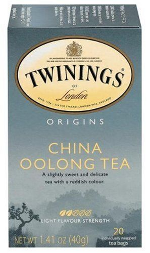 Twinings China Oolong Tea Bags, 20-Count Boxes (Pack of 6): They are slightly sweet and delicate tea with a reddish color.