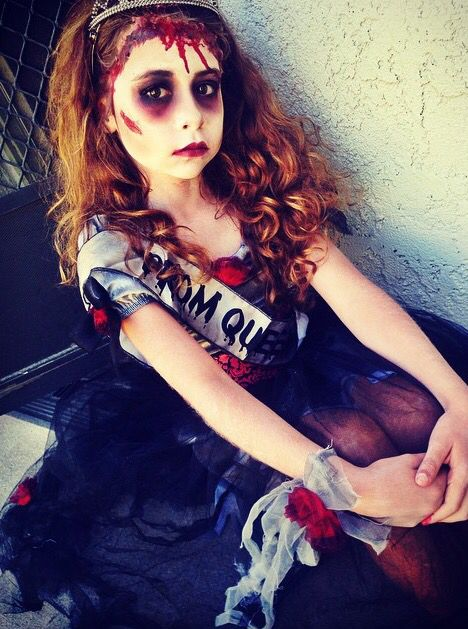 Zombie prom queen by me #makeup #zombie #halloween