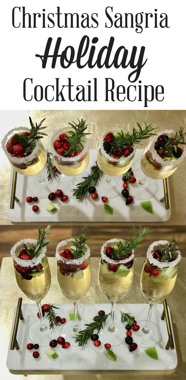 Weihnachts Sangria Cocktail – Weihnachtsessen & -getränke – #Weihnachten #Cocktail #D …