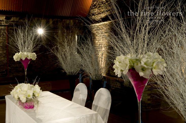 Vinopolis, London wedding flowers – Narnia winter wonderland » The Fine Flowers Company