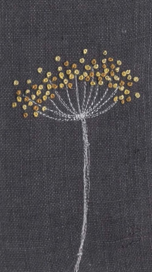 Jo Butcher, Embroidery Artist - Cow Parsley. So simple but lovely ❤