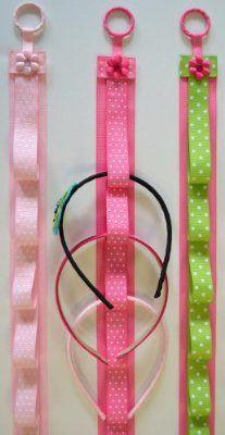 Boutique Handmade Headband Holder (Hot Pink w/ White Polka Dots):Amazon:Clothing