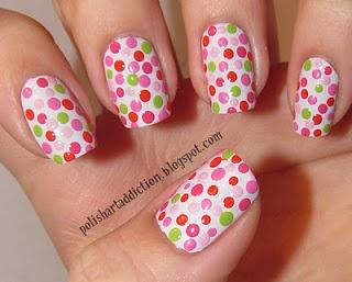 Pink and green polka dots!: Polish Art, Polka Dots, Art Addiction, Nailart, Nail Design, Nail Ideas, Polka Dot Nails, Nail Art, Wacky Dots