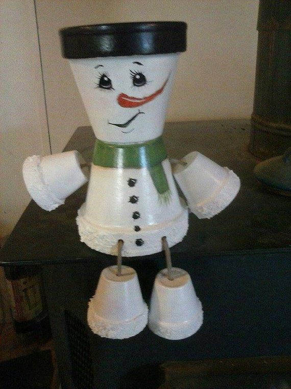 Snowman pot people