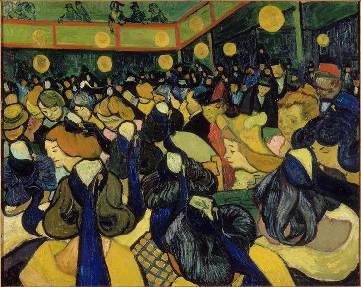 """""""La salle de danse à Arles"""" de Vincent Van Gogh (1853-1890). Paris, musée d'Orsay - Photo (C) RMN-Grand Palais (musée d'Orsay) / Hervé Lewandowski"""