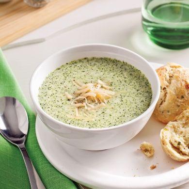 Soupe fromage et brocoli - Entrées et soupes - Recettes 5-15 - Recettes express 5/15 - Pratico Pratique