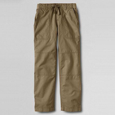Lands' End Beige boys' iron knee beach trousers | Debenhams