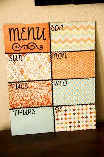 Menu Board DIY